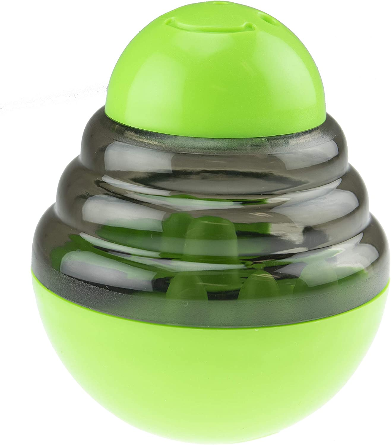 Greatest Pet Shop Food Ball Toy Tumbler for Dogs and Cats, Interactive Pet Treat Dispenser, Green