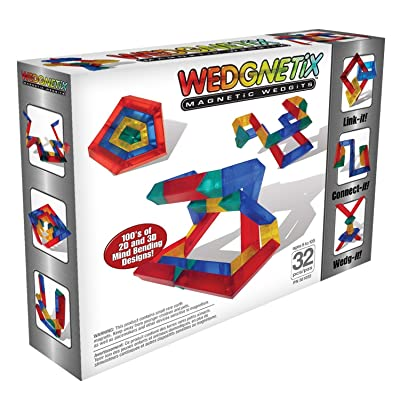 WEDGNETiX 32 Piece Magnetic Construction Kit: Toys & Games