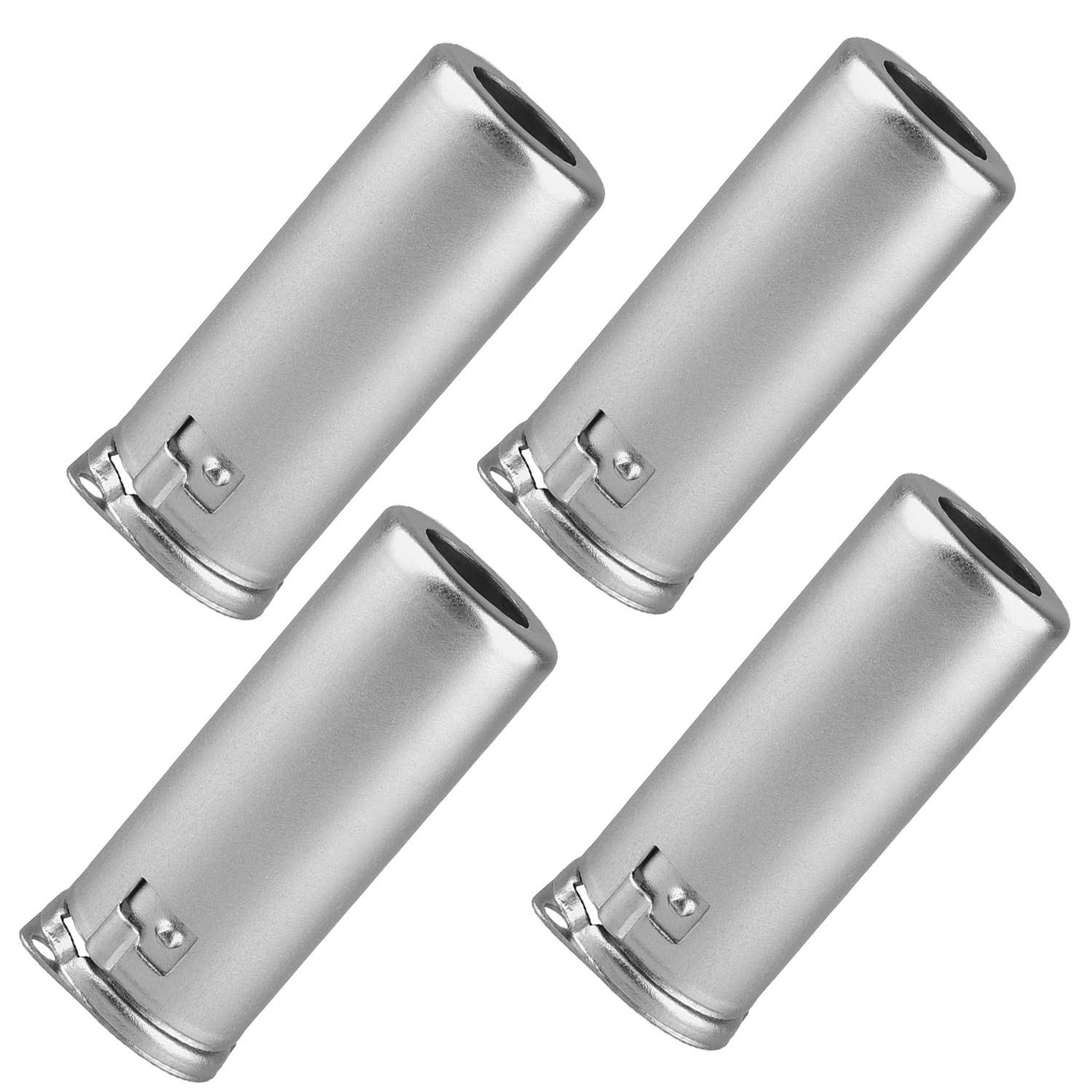 Vacuum Tube Shield Aluminum Alloy 9G-55 Shield Caps For 9 Pin 12AX7 12AU7 12AT7 Tubes, Silver