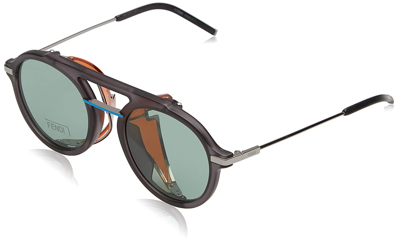 62fb304cb037e Amazon.com  Fendi Fantastic Green Aviator Mens Sunglasses FF M0012 S KB7 QT  52  Clothing