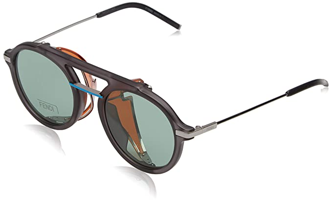 c5f9aef41f9d7 Image Unavailable. Image not available for. Color  Fendi Fantastic Green  Aviator Mens Sunglasses FF M0012 S KB7 QT 52