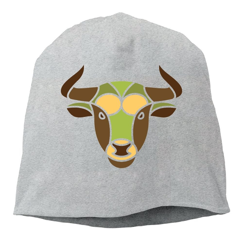 Headscarf Taurus Constellation Zodiac Sign Cattle Hip-Hop Knitted Hat for Mens Womens Fashion Beanie Cap