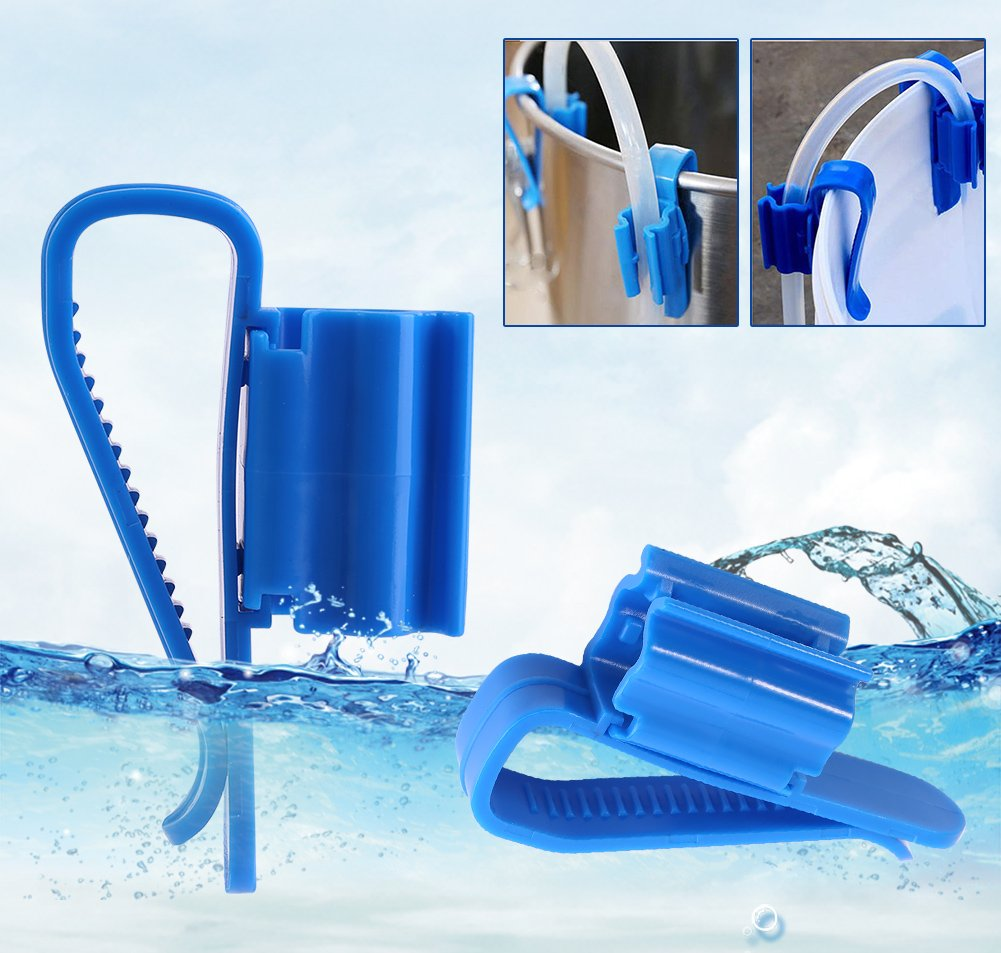 2Pcs Multi-function Adjustable Fish Tank Mounting Clip 8-16mm Water Pipe Tube Clamp Hose Holder