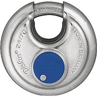 ABUS Diskus® hangslot 24IB/70 van roestvrij staal - met 360° bescherming rondom - ter beveiliging bij sterke…