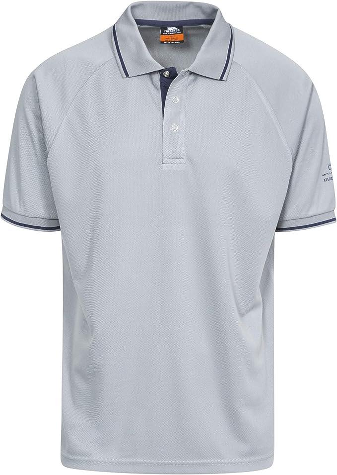 Trespass Bonington Mens Quick Dry Polo Top Short Sleeved Active Shirt