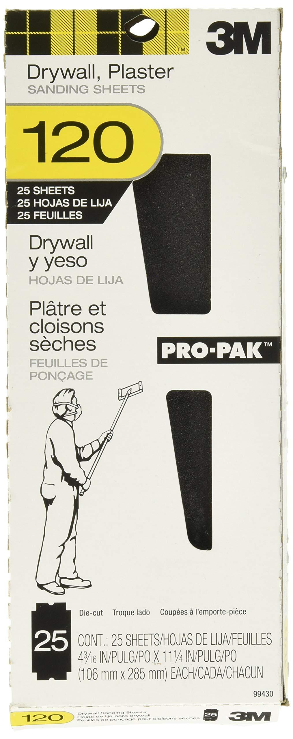 25 Lijas 3M 10.6cm x 28.5cm Yeso Pared Grano 120