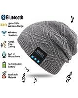 NINE BULLニット Bluetooth 帽子 秋冬 男女兼用 キャップ.ハット ワイヤレス音楽帽 ヘッドホン付け USB充電 音楽 暖かい ハット アウトドア用品スポーツ用キャップ