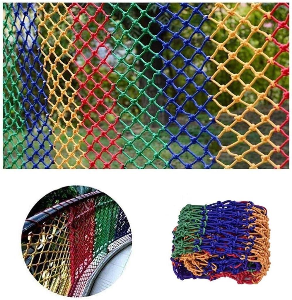 TorchJPA Nylon Outdoor Quality Decorative Protective Net Nylon Anti Falling Net Enclosure of Outdoor Football Field Kindergarten Staircase Protection Color Netting Bird Net Multi Purpose Customizable