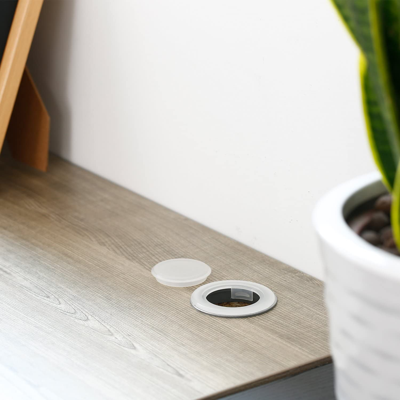 2 Zoll Patio Tischschirm Loch Ring und Kappe Set Standardgr/ö/ße Regenschirm Dicker Loch Ring Plug und Cap Set Schwarz