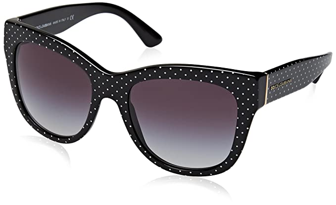 Sunglasses Dolce & Gabbana DG 4270 31268G POIS WHITE ON BLACK
