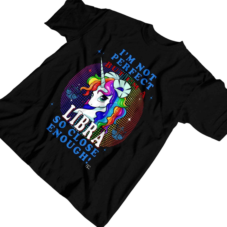 1Tee Mens I/'m Not Perfect But I/'m Libra So Close Enough Unicorn Zodiac T-Shirt