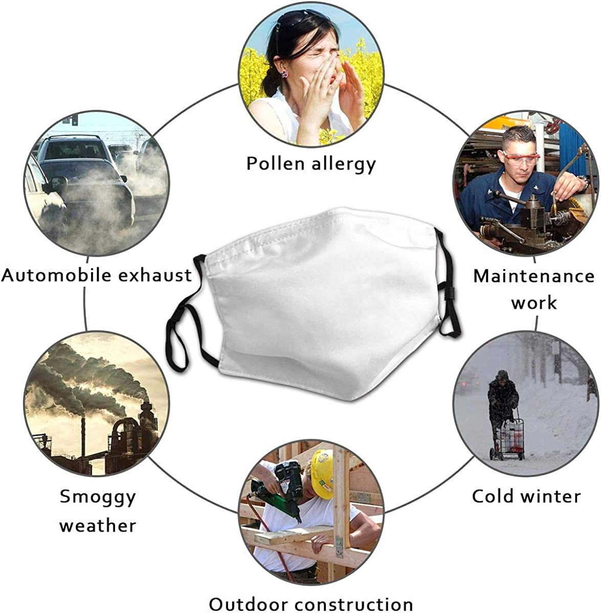 Na Atmungsaktiver Mundschutz mit elastischer Ohrschleife Fu/ßball Nahtlose Textur Elastische Abdeckung