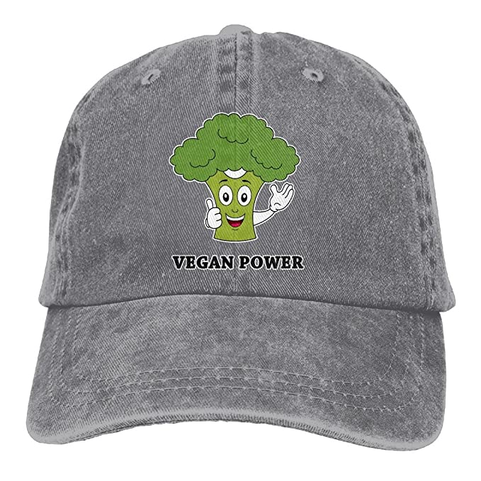 Vegan Power Classic Unisex Washed Cap Adjustable Dad's Denim