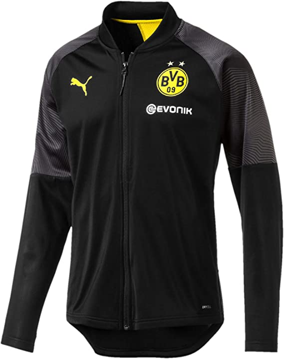 PUMA BVB Stadium Poly Jacket with Sponsor Logo Chaqueta De ...