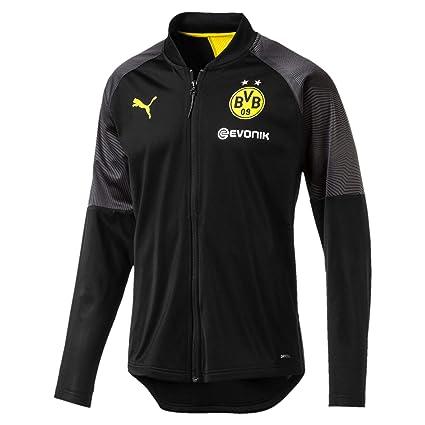 5e289879f6d5c Amazon.com : PUMA 2018-2019 Borussia Dortmund Stadium Jacket (Black ...