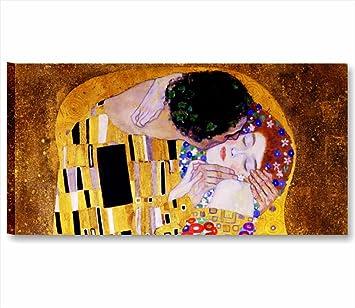 Klimt Il bacio - Quadro moderno 90x45 cm stampa su tela da ...