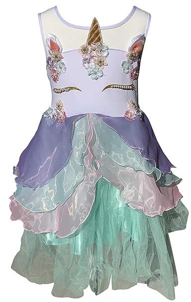 Amazon.com: Niñas pequeñas encantadora unicornio Pearl tutú ...