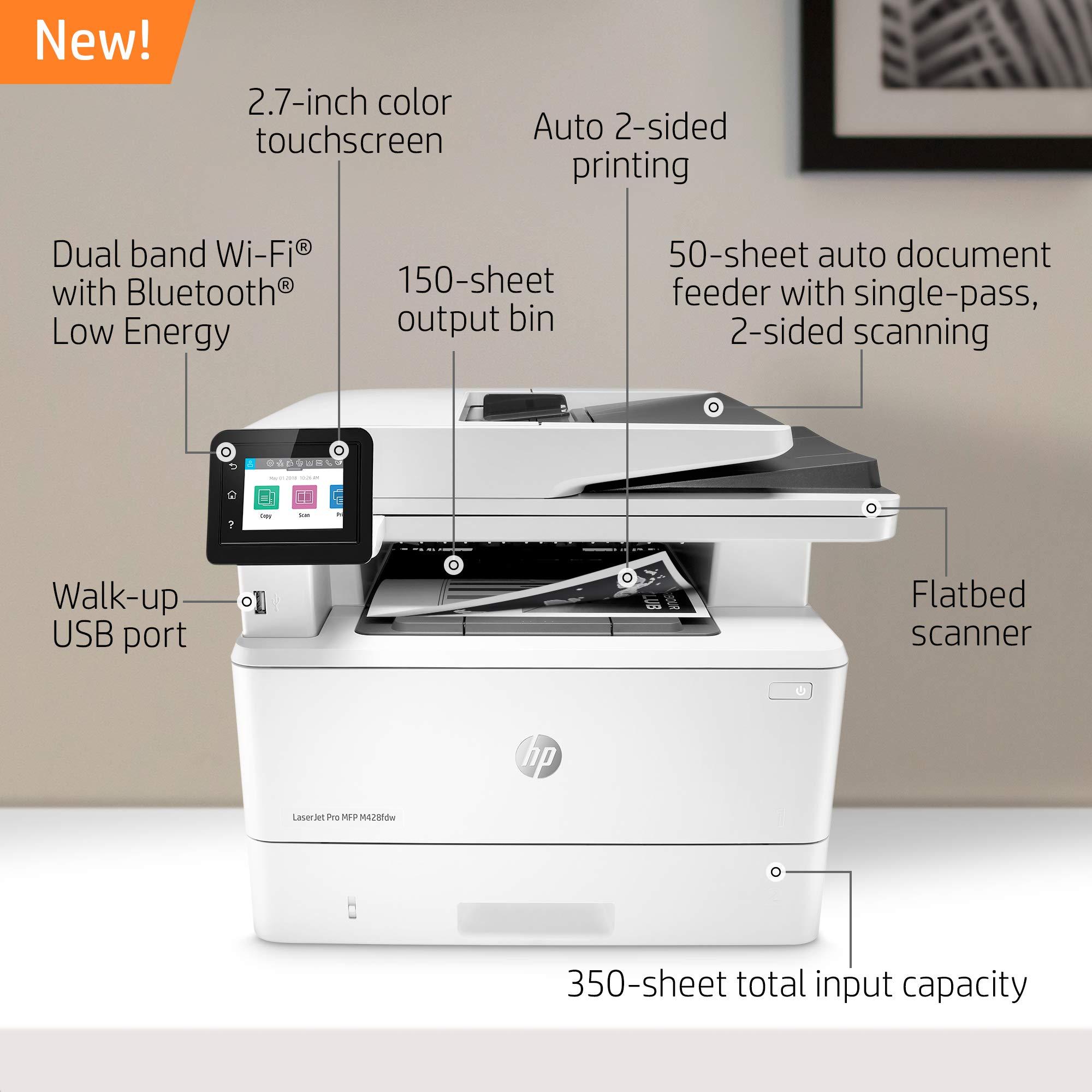HP LaserJet Pro Multifunction M428fdw Wireless Laser Printer (W1A30A) by HP (Image #2)