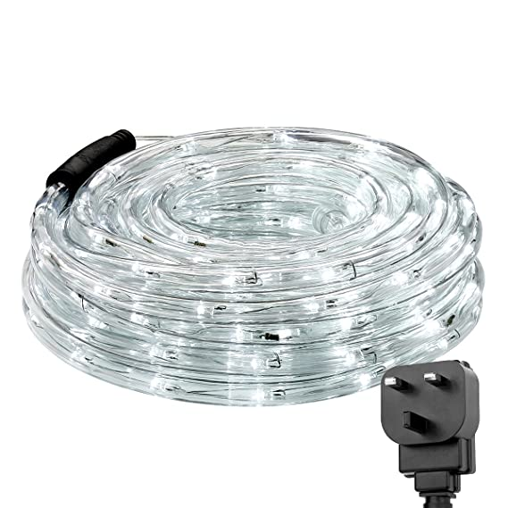 LE Outdoor LED Rope Lights Kit, 10m 240 LEDs Waterproof Strip Lights ...