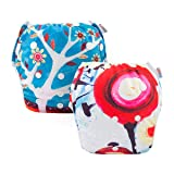 ALVABABY 2pcs Swim Diapers Reuseable Adjustable for