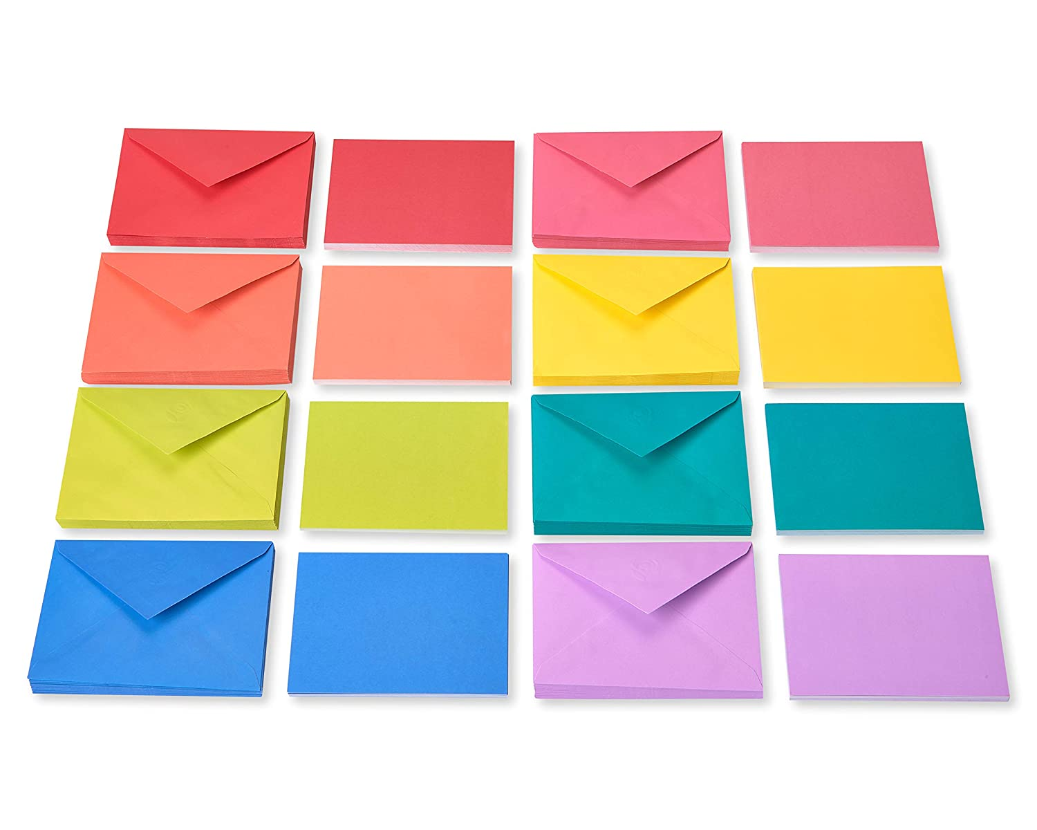 American Greetings Pastel Single Panel Blank Note Cards and Colored Envelopes 100-Count
