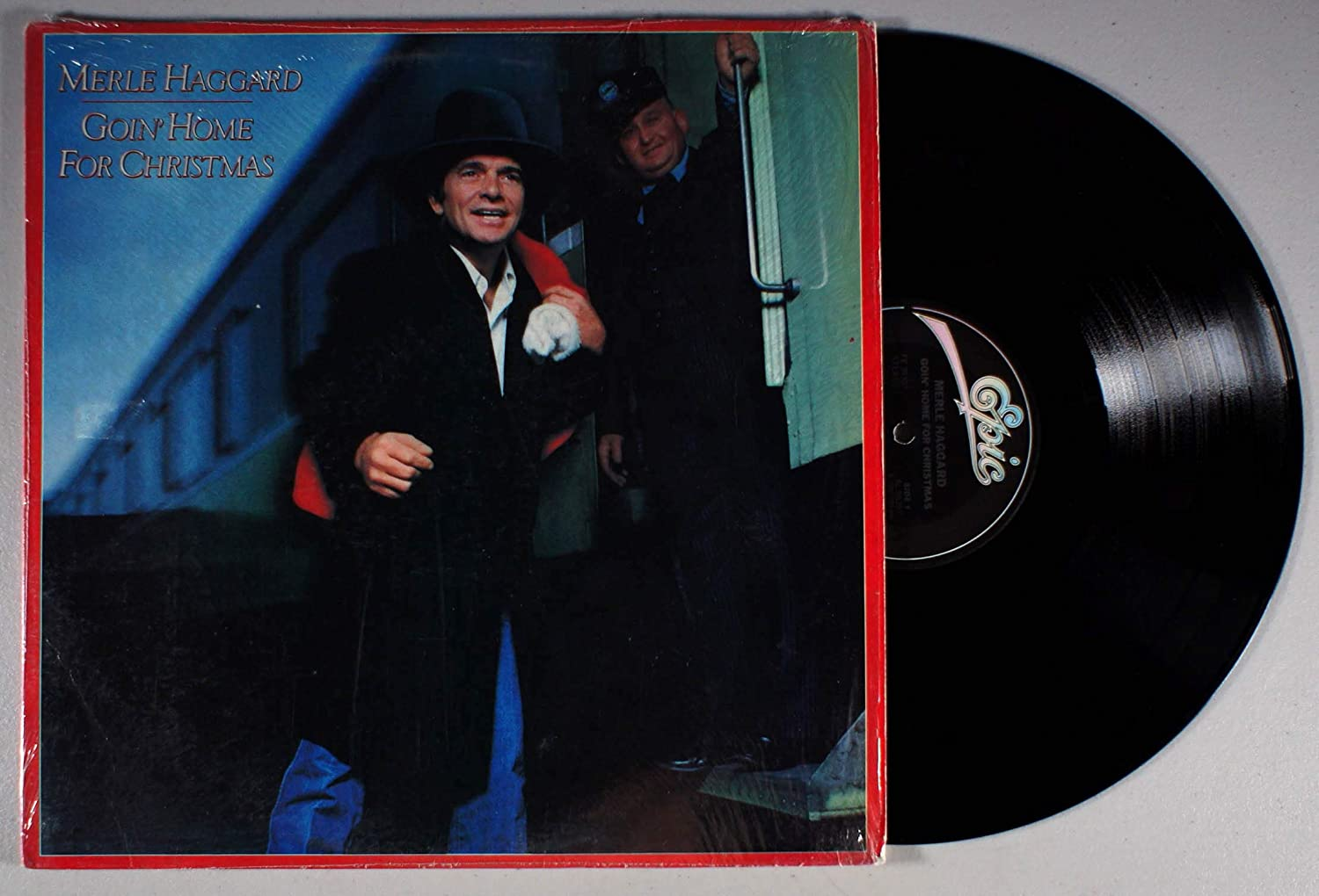 MERLE HAGGARD - goin' home for christmas' EPIC 38307 (LP vinyl record)