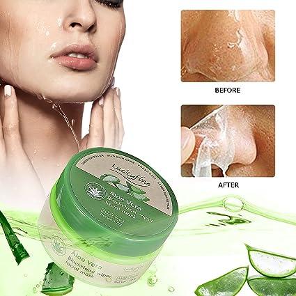 Mascarilla de Aloe Vera - Luckyfine peel off mask | Mascarilla facial de limpieza profunda,