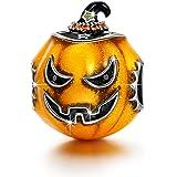 "NinaQueen ""The Light of Halloween"" 925 Sterling Silver Halloween Pumpkin Charms Best Halloween Gifts"