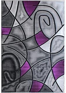 purple and black rug black white floral masada rugs modern contemporary area rug purple grey black 5 feet amazoncom 0327 white 52x72 rug abstract carpet