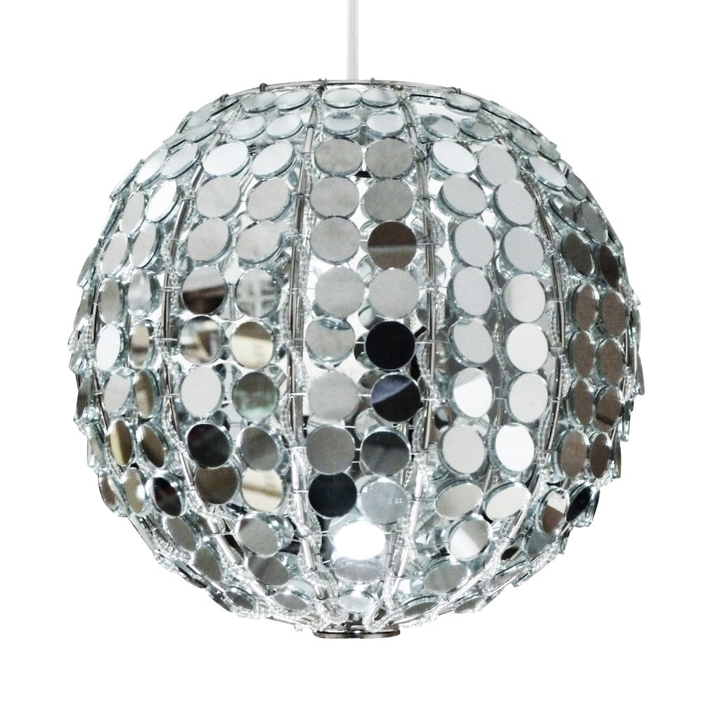 Modern decorative mirror ball globe ceiling pendant light shade modern decorative mirror ball globe ceiling pendant light shade amazon lighting aloadofball Images