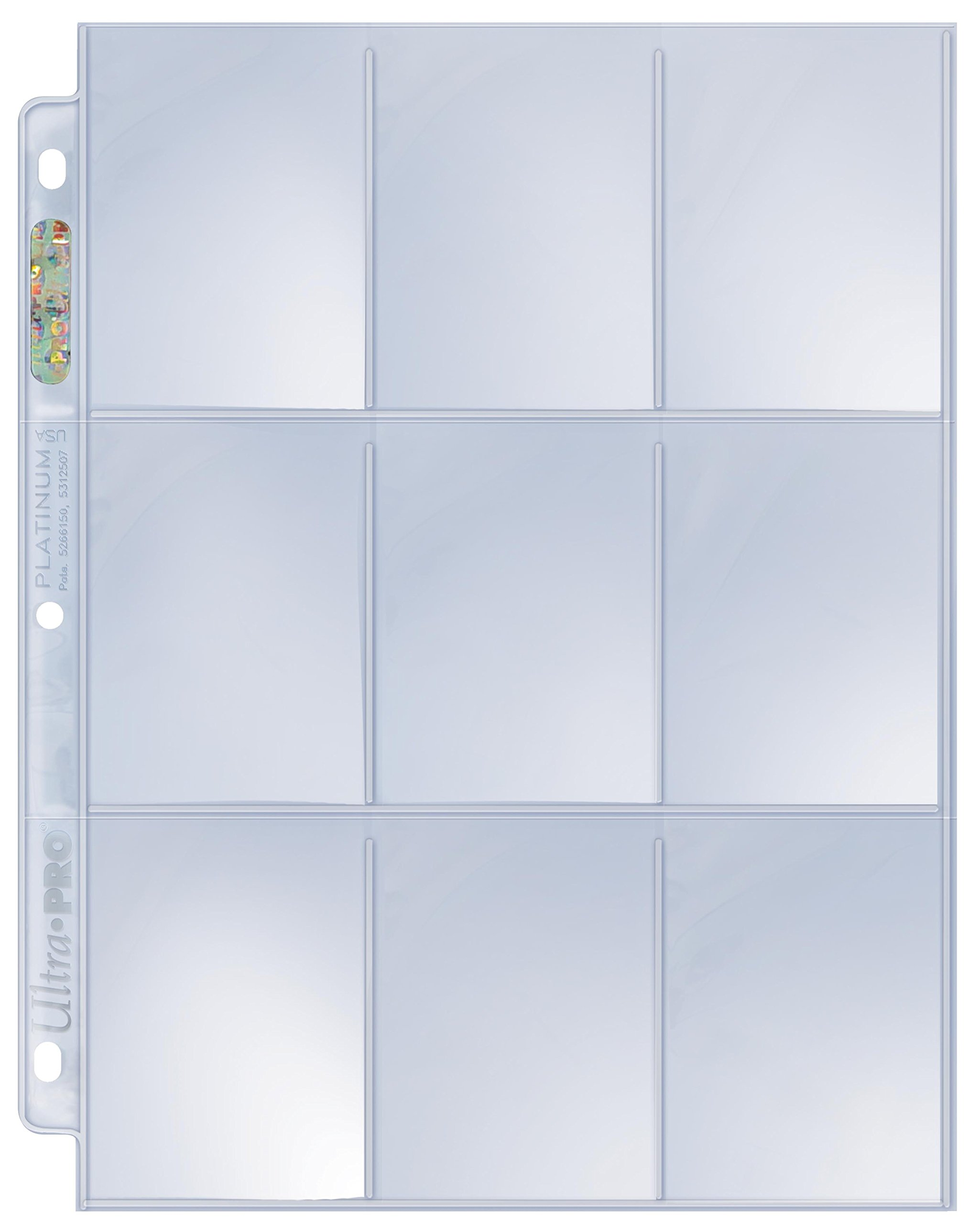 9-Pocket Trading Platinum Series Card Pages (1000 Pages)