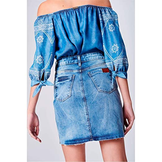 7901bbd42 Saia Jeans Cintura Alta Feminina: Amazon.com.br: Amazon Moda