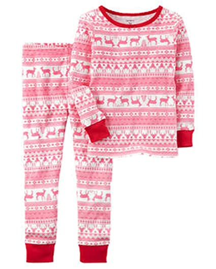 c7dda130e Amazon.com  Carters Girls 2 Piece Fair Isle Snug Fit PJ Sleepware ...