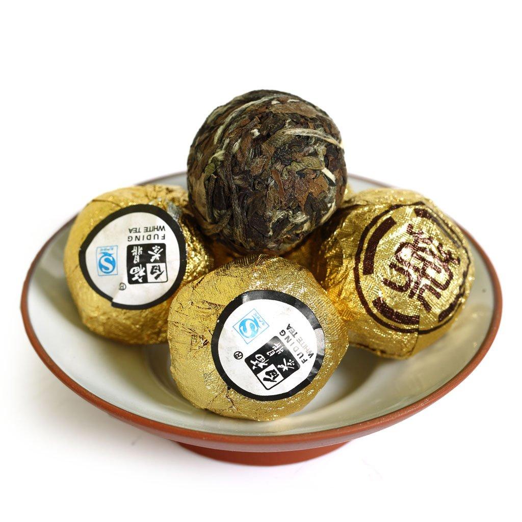 GOARTEA 500g (17.6 Oz) Handmade FuDing Organic Supreme Gong Mei Tribute Eyebrow Sweet Dragon Ball Chinese White Tea