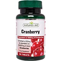 Natures Aid Cranberry 200mg (equivalent to 5000mg of