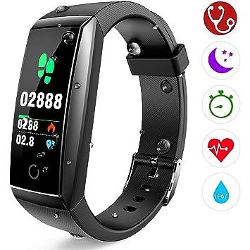 Pulsera de Actividad Reloj Inteligente con Pulsómetro y Presión Arterial Relojes Deportivos GPS Impermeable IP67 Monitor de Ritmo Cardíaco Actividad ...