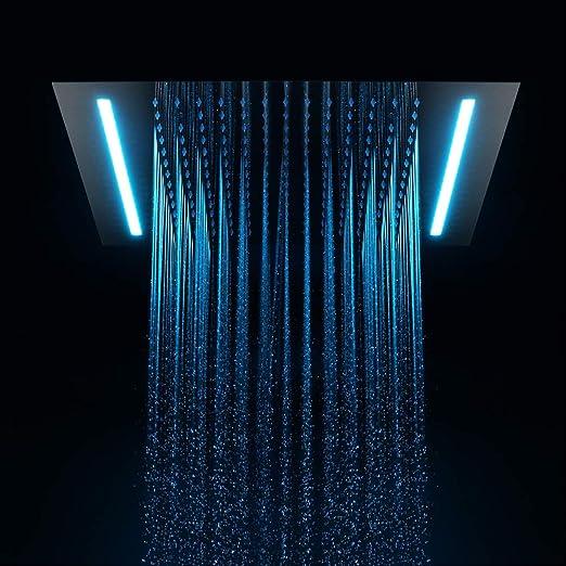 HDLWIS Color del LED Cambio de Ducha, baño Cabeza Lluvia y la ...