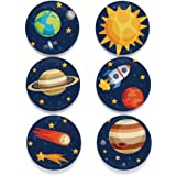 "Tolt Supply Space Magnet Set - Set of 6 1.25"" Magnets in Decorative Tin - Made in the USA"