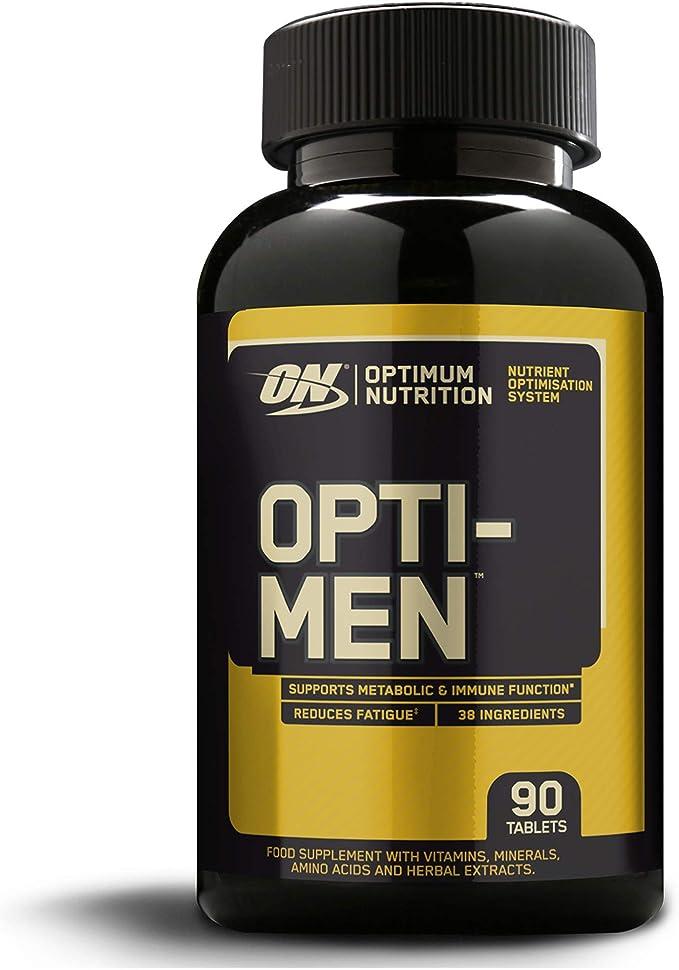 Optimum Nutrition Opti-Men, Suplemento Multivitamínico, Multivitaminas y Minerales para Hombres con BCAA, Glutamina, Vitamina C, Zinc y Magnesio, Sin ...