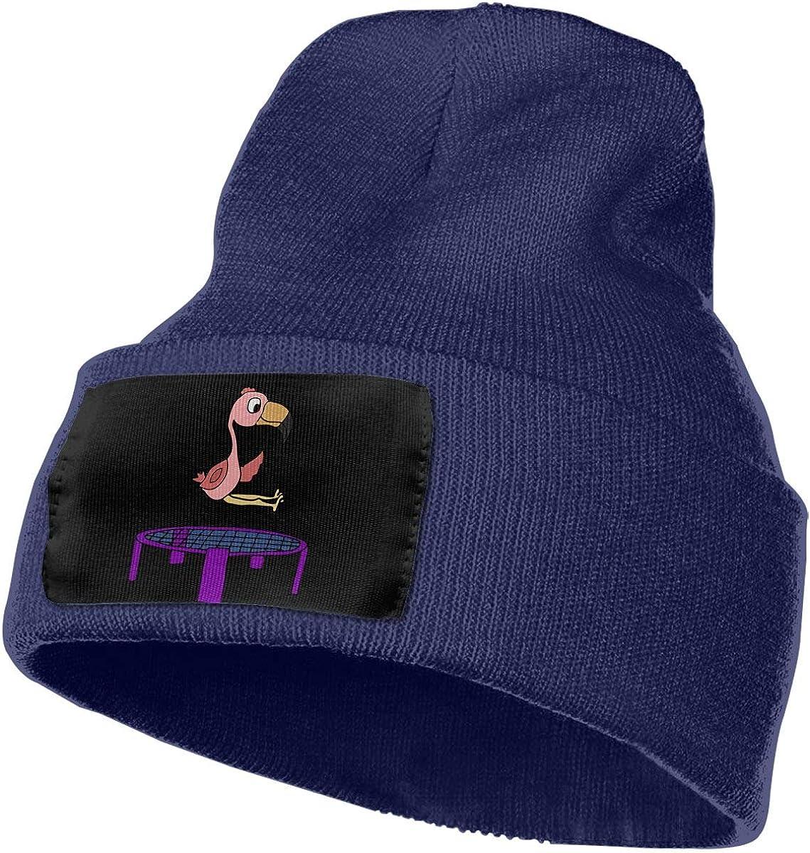 Cute Pink Flamingo Bird Men /& Women Knit Hats Stretchy /& Soft Ski Cap Beanie