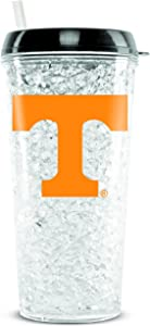 NCAA Tennessee Volunteers 16oz Crystal Freezer Tumbler with Lid and Straw