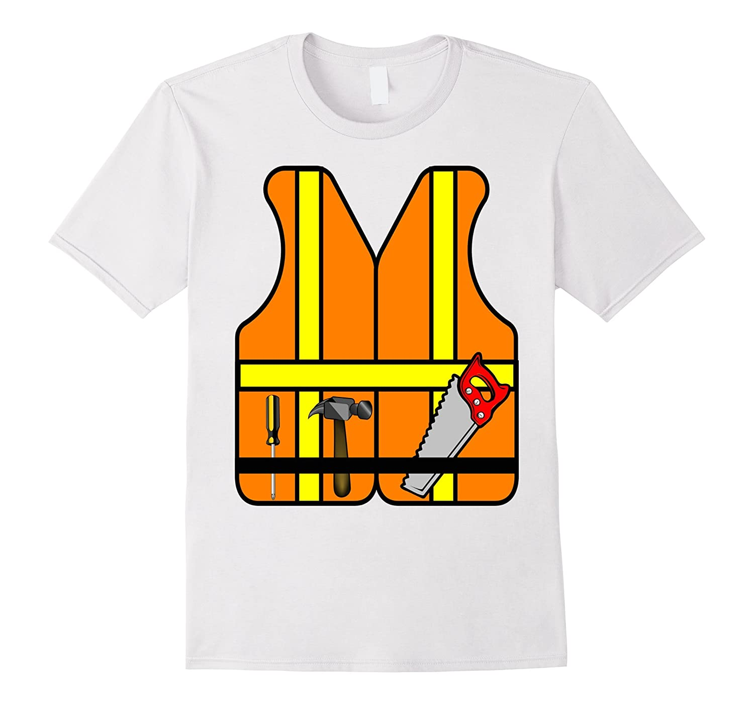 Construction Worker Role Play Halloween Costume T-Shirt-FL