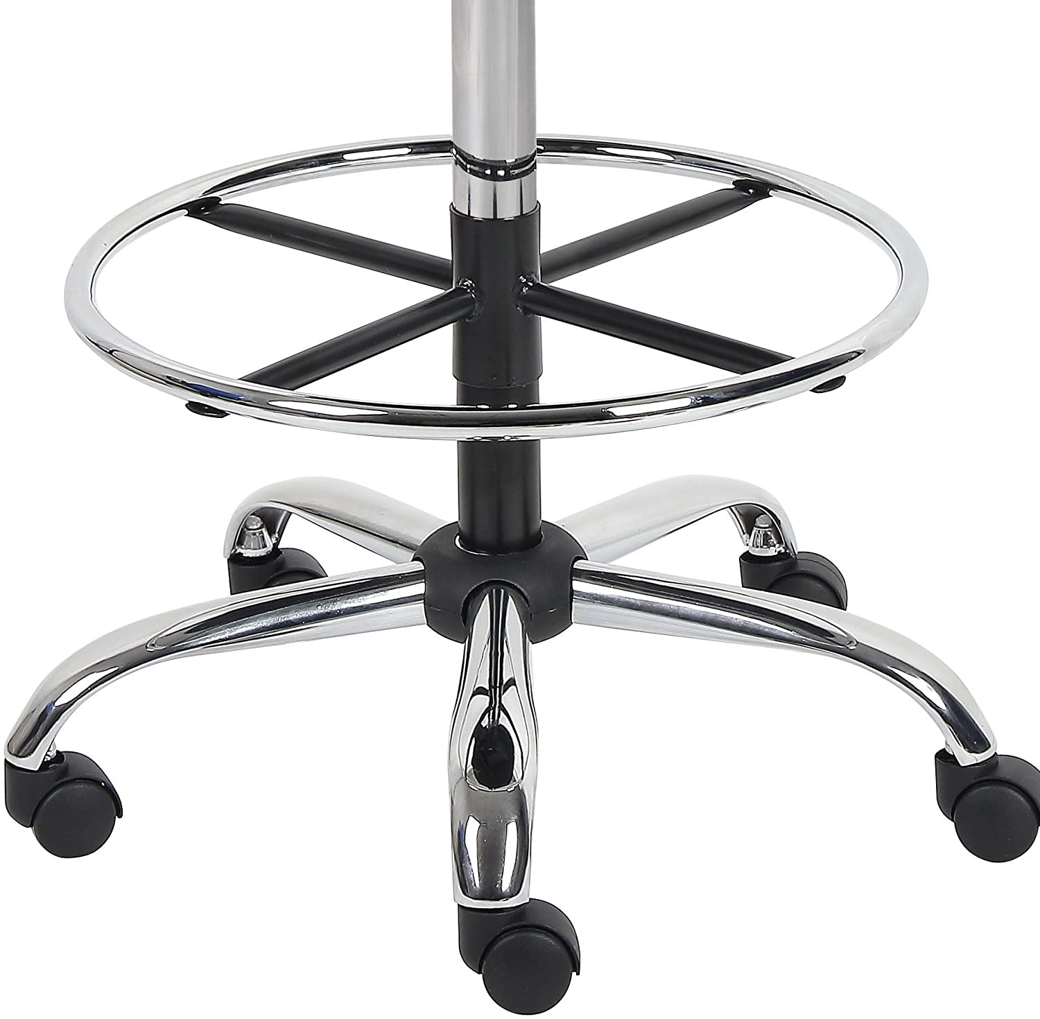 Boss Office Products B16245-BK Be Well Medical Spa Drafting Stool with Back