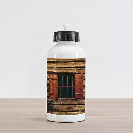 Super Amazon Com Lunarable House Aluminum Water Bottle Wooden Old Wiring Digital Resources Attrlexorcompassionincorg