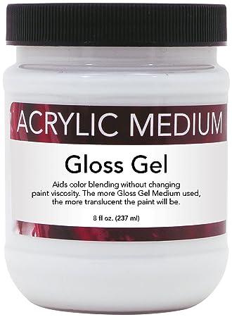 amazon com art advantage 8 ounce acrylic gloss gel medium