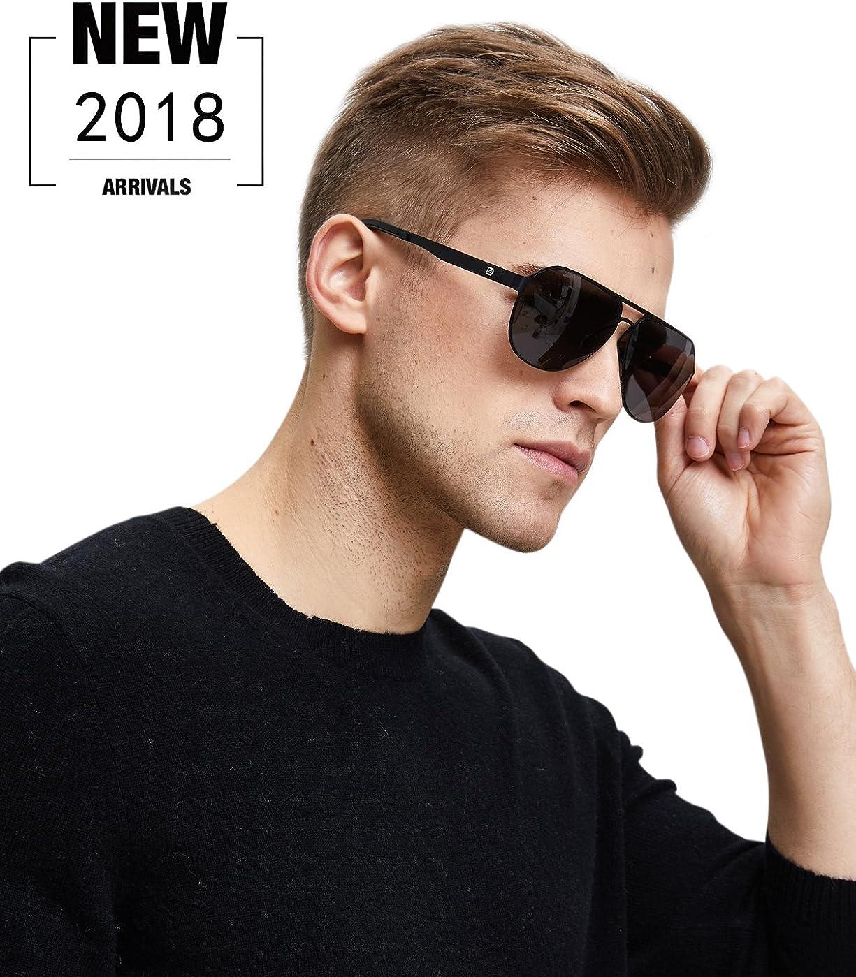 DUCO Premium Flexible Gr/ö/ße Rahmen Pilotenbrille polarisierte Sonnenbrille Nylon Linsen M/änner Frauen 100/% UV-Schutz G001