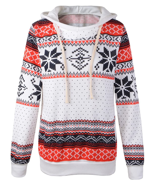 Genluna Women's Cute Hoodie Christmas Jumper Sweater Winter Warm Sweatshirt