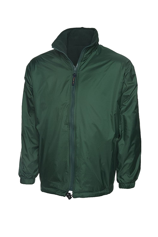Uneek clothing Premium Reversible Chaqueta de Forro Polar Abrigo Impermeable Ocio al Aire Libre de Trabajo Bolsillos: Amazon.es: Ropa y accesorios