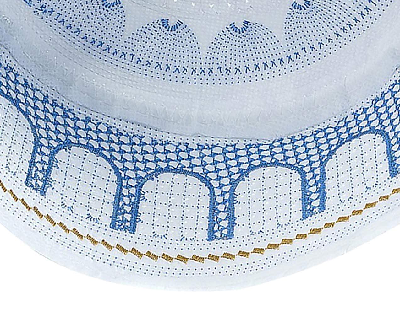 KRUIHAN Musulm/án Sombrero Islam Oraci/ón Headwear Masculino Turco Arabia Hui Ramadan Bordado Cap
