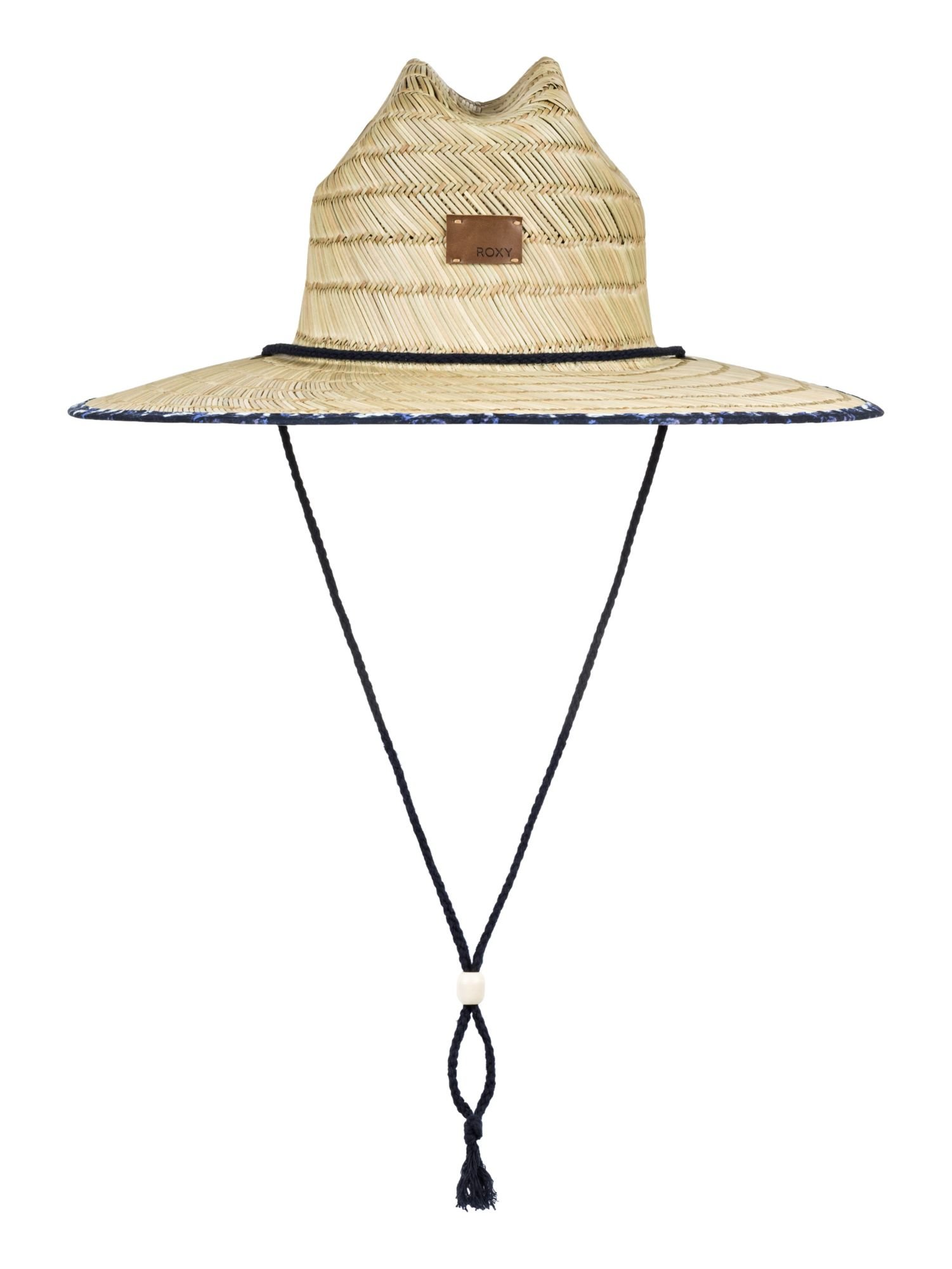 Roxy Women's Tomboy Printed Straw Hat - Dress Blues Geometric Feel, ML